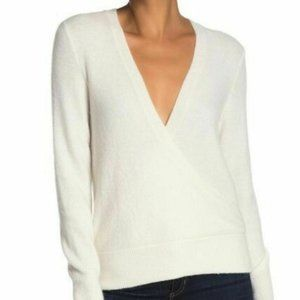 *HOST PICK*Madewell wrap front Ivory BNWT sweater